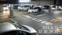 幽霊が車に轢かれた!!心霊動画