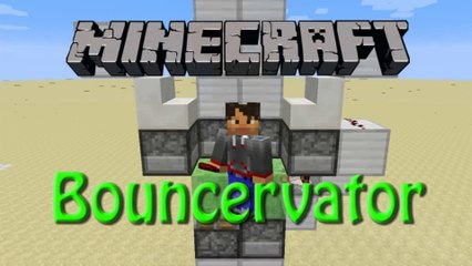 Minecraft: How to build The Bouncervator, Tutorial for 1.8, Fun with Slimeblocks