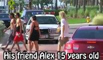 Enfants drôles boire de la bière Prank Sur Cops - Police pranking