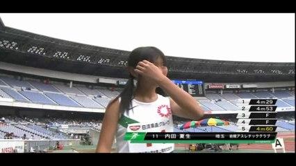 2011全国小学陸上 女子走幅跳決勝