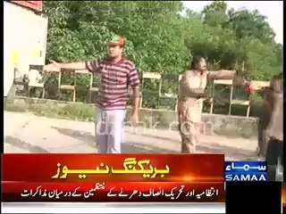 Asad Umer reached at the spot to stop PTI Workers to enter Red zone