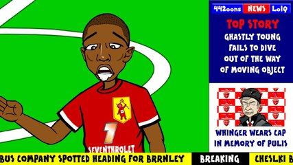 ASHLEY YOUNG BIRD POO by 442oons (Bird poop in mouth Man Utd)