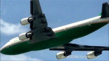Boeing 747-400 Eva Air. Takeoff from Hong Kong International Airport. Plane Spotting