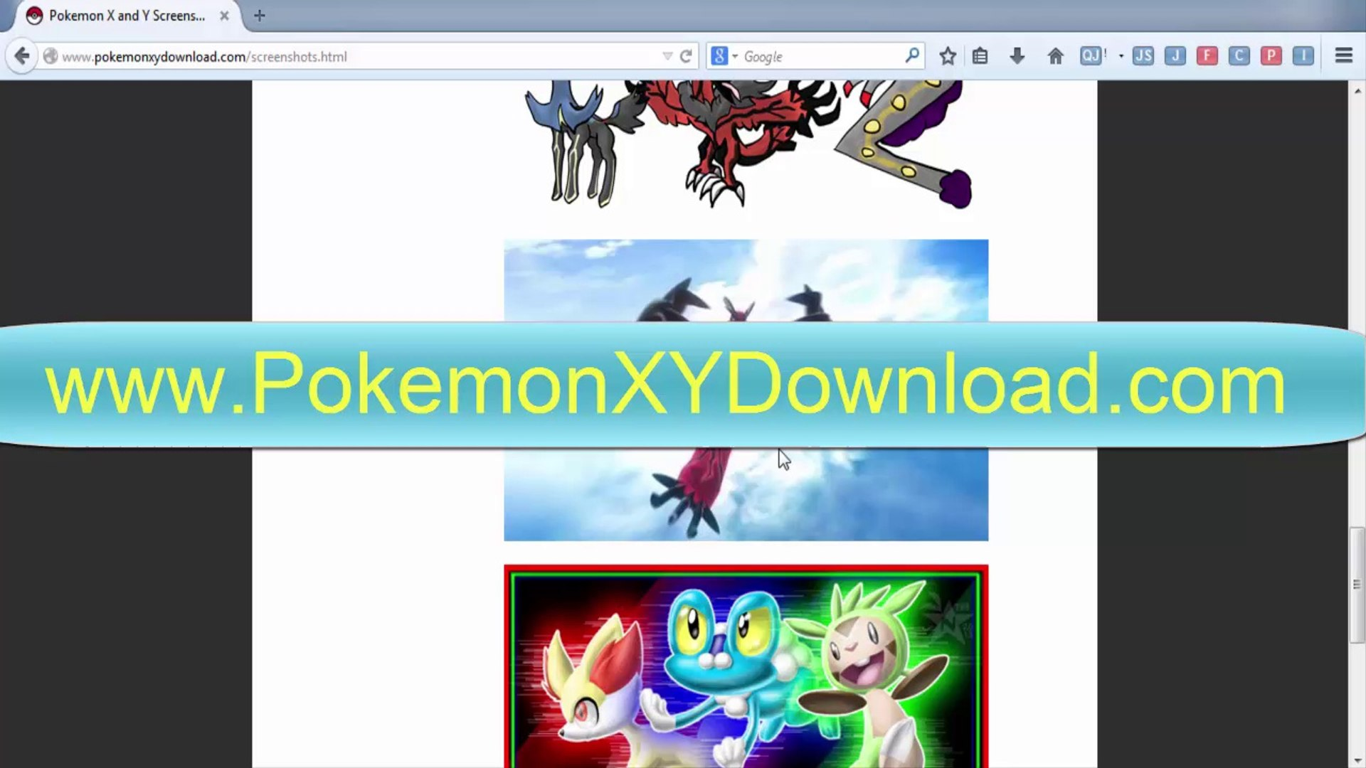 Pokemon X and Y Rom Download No Survey No Password English