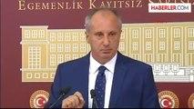 Muharrem İnce CHP Grup Başkanvekilliği Görevimden İstifa Ettim