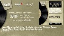 Jean-Marie Leclair, Henri Doublier, Jacques Charon, Renée Faure, Marie-Rose Carlié, M - L'épreuve