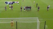 English Soccer streaker shooting a free kick