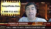 LA Dodgers vs. San Diego Padres Pick Prediction MLB Odds Preview 8-19-2014