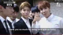 140819 Melon Showcase BTS (Bangtan Boys) End Message