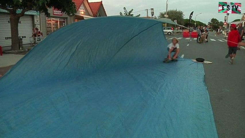 Montalivet: Skate sur une Vague artificielle - Euskadi  Surf TV