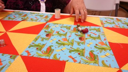 Hand Quilting on a Frame