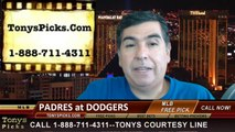 MLB Pick LA Dodgers vs. San Diego Padres Odds Prediction Preview 8-20-2014