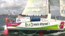 Arrivée de la 2ème et dernière étape de la course Les Sables-Les Açores-Les Sables
