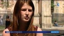 19/20 France 3 Midi-Pyrénées, Marion Pressé de l'UNEF Toulouse au sujet de la hausse du coût de la vie étudiante à la rentrée