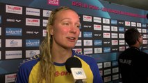 Sarah Sjoestroem, winner of women's 100 m Freestyle – Day 8, Berlin 2014