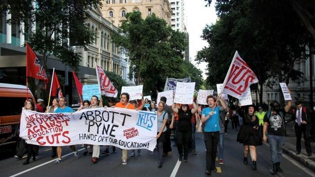 Students in Australia protest against planned education cuts