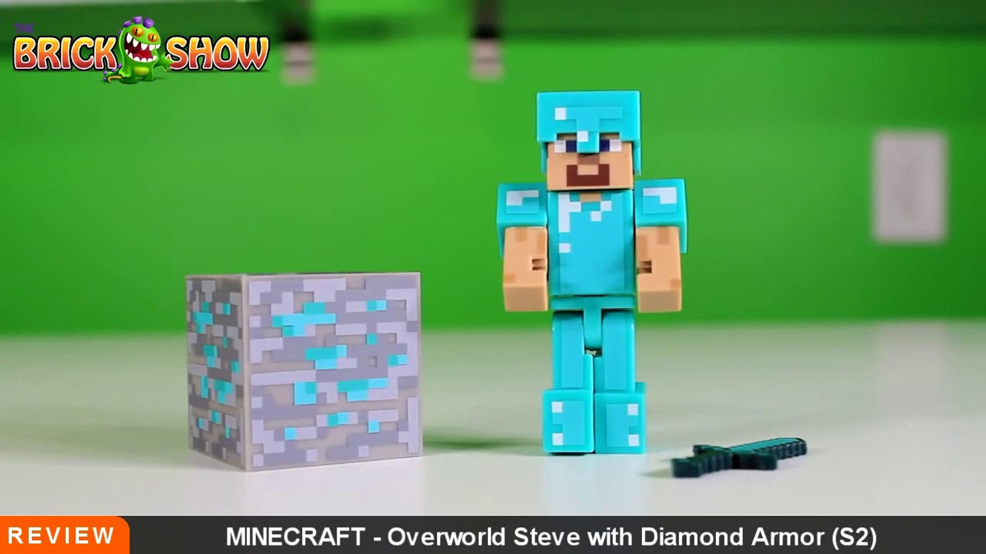 Minecraft Steve With Diamond Armor Action Figure Review
