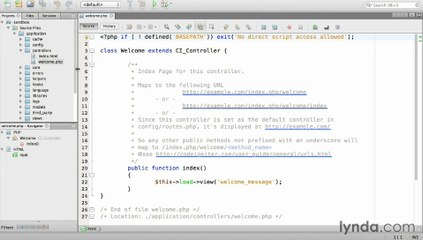 Lynda  Up and Running with PHP CodeIgniter / Section 2 - 4  Creating
