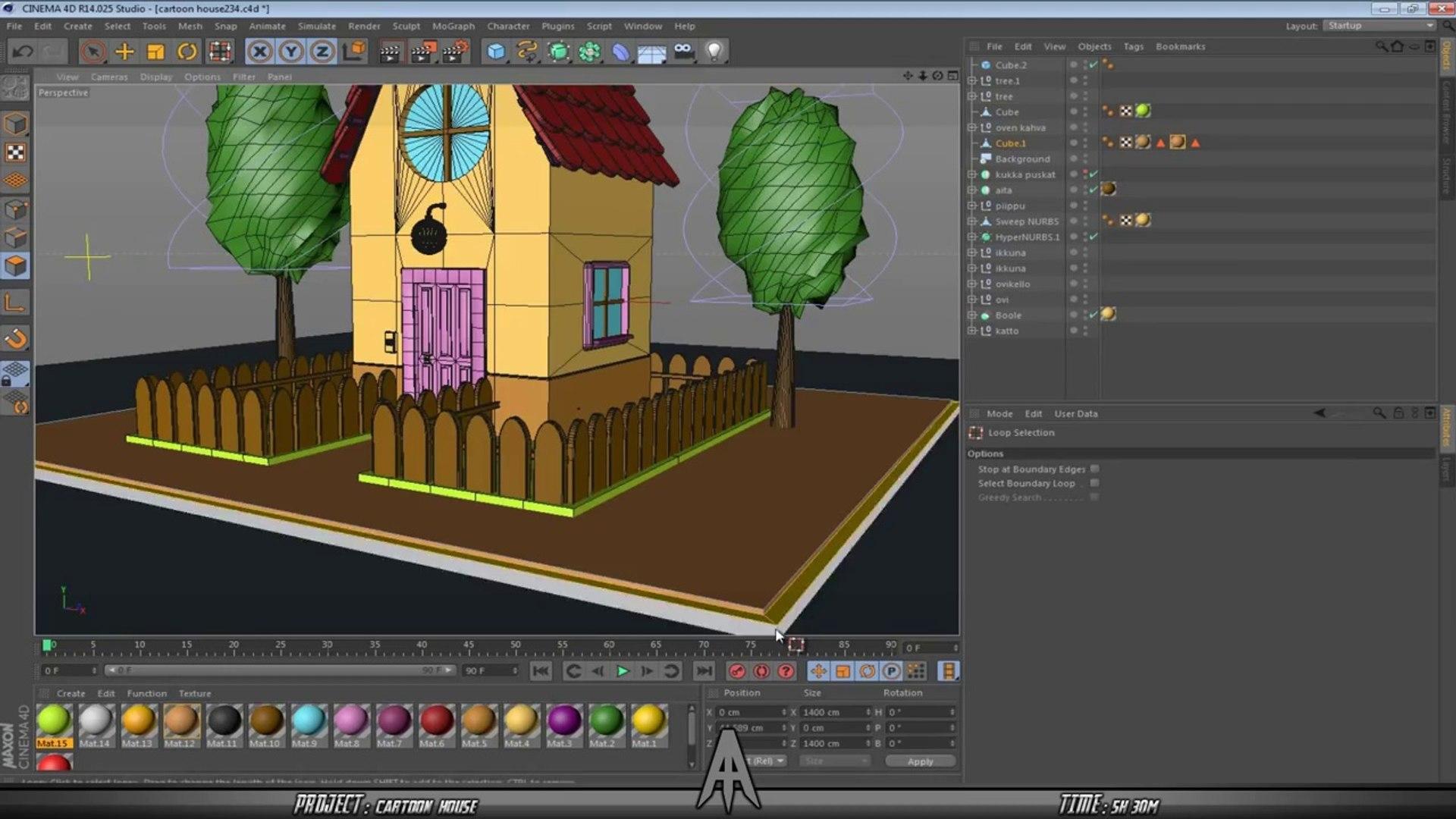 Cinema 4D - Speed Modeling - Cartoon House