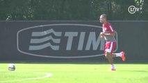 Luis Fabiano não sente mais dores e volta a treinar forte