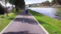 Balade en vélo le long des canaux (Saint-Denis et Ourcq) : : sur le vélo !