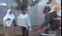 GOAT Riding a Man Riding a Bike Through Ethiopian Streets