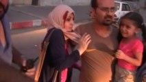 Panicked Gazans bundle into ambulances after massive Israeli air strike