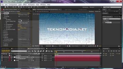 After Effects ile 3D Yazı Yazma (Shatter Metodu)