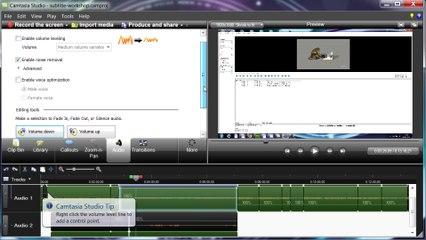 Camtasia Studio Pro ile aldığınız ekran kayıtlarının sesi nasıl artırılır?
