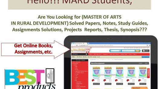 IGNOU MARD (MRD) HELP BOOKS, SOLVED ASSIGNMENTS, QUESTION PAPERS,