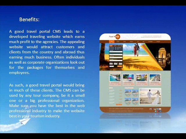 Travel Portal CMS, Travel Portal for Travel Agents and Travel Agency - Axis Softech | Godialy.com