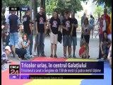 Tricolor uriaş, în centrul Galaţiului - dorința de regăsire a Românilor de pe ambele maluri ale Prutului în cadrul aceluiași stat