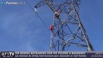 [HAUTES-PYRENEES] Un homme perché à 28 m de haut (25 aout 2014)