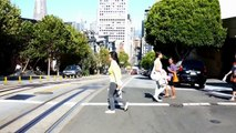 Une balade en Cable Car dans les rues de San Francisco HD