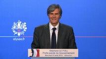 Point de presse de Stéphane Le Foll, porte-parole du Gouvernement, le 27 août