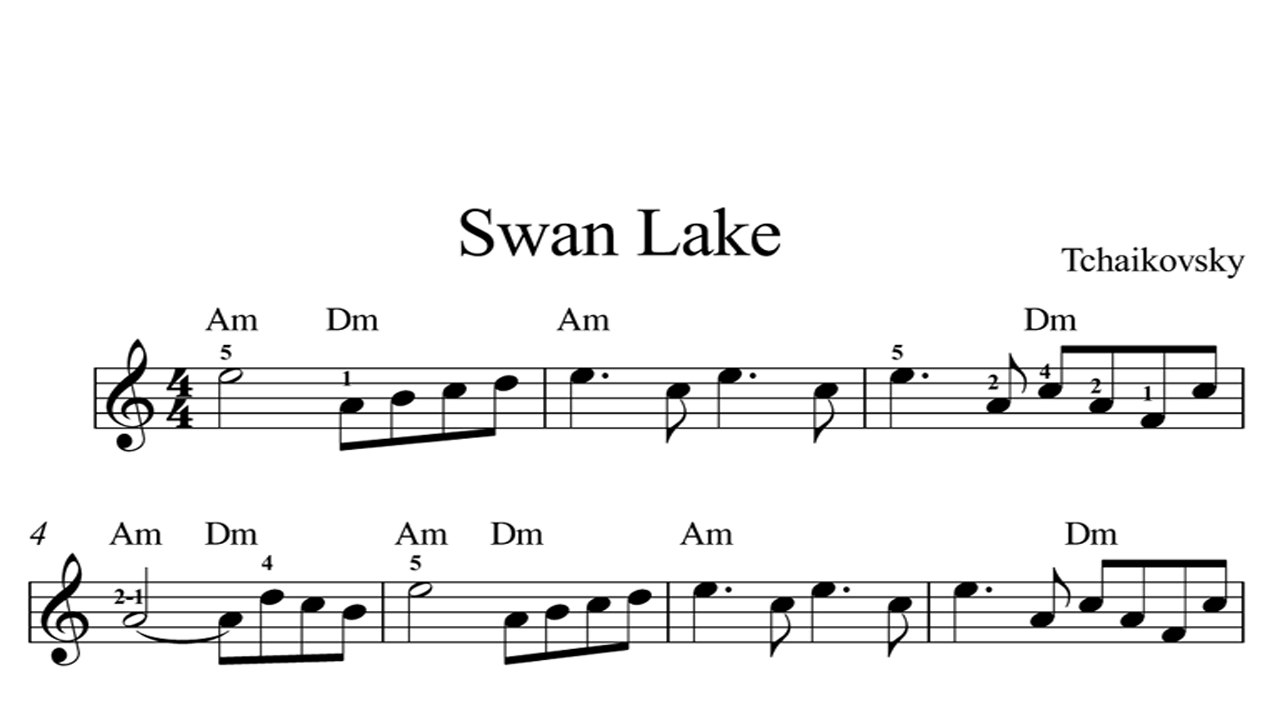 Try These Swan Lake Piano Sheets {Mahindra Racing}