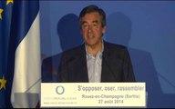 """""""S'opposer, Oser, Rassembler"""" discours de François Fillon à Rouez-en-Champagne le 27 août 2014"""
