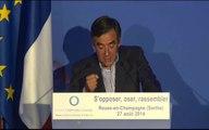 """""""S'opposer, Oser, Rassembler"""" discours de François Fillon, version courte"""