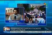 Concluye segundo día de paro de profesores paraguayos