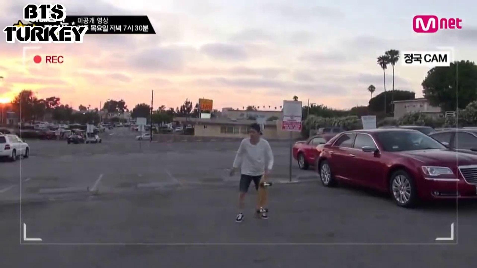 [Türkçe Altyazılı] American Hustle Life Ep.3 Unreleased Cut: BTS V,Suga ,Jungkook Acrobatics Skatebo