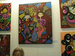 29 AOUT . Vernissage de MARIE ROSE B. a la Galerie L enfance de l Art . Nimes ( 2014 )