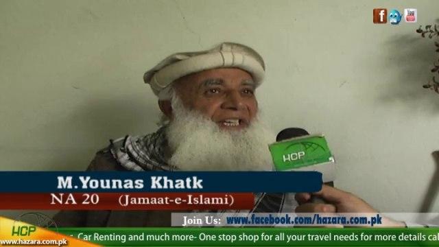 Younas Khatk Jamat e Islami Candidate for NA-20 Mansehra
