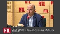 """VIDÉO - """"Montebourg et moi n'avons pas la même sensibilité politique"""", dit Moscovici"""