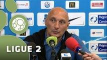Conférence de presse Tours FC - Angers SCO (1-2) : Olivier PANTALONI (TOURS) - Stéphane MOULIN (SCO) - 2014/2015