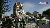 Un immeuble soufflé par une explosion à Rosny-sous-Bois