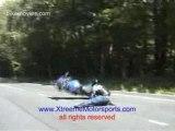 accident de moto weelly ratté