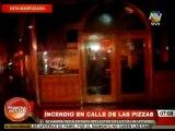 Cortocircuito provocó incendio en la Calle de las Pizzas
