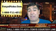 Boise St Broncos vs. Colorado St Rams Pick Prediction NCAA College Football Odds Preview 9-6-2014