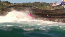 En Australie, au milieu des rochers, ils affrontent les vagues les plus dangereuses du monde
