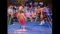 Midnight Rockers vs Pete Sanchez, Rick Renslow (1986.07 AWA)